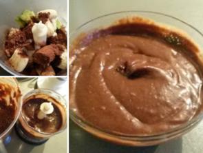 Krem czekoladowy z awokado i bananów